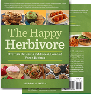 Photo of the book cover The Happy Herbivore Cookbook.
